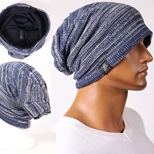 b16e7968cfc FORBUSITE Mens Slouchy Long Oversized Beanie Knit Cap for Summer Winter B08