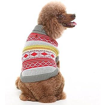 Amazon.com : Idepet Pet Dog Classic Sweater, Fleece Coat for Small ...
