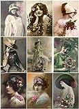Vintage Women Photo Collage #107 Collage Sheet