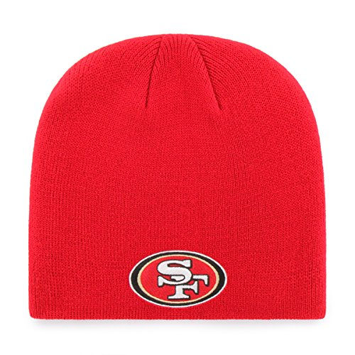 (OTS NFL San Francisco 49ers Beanie Knit Cap, Red, One Size)