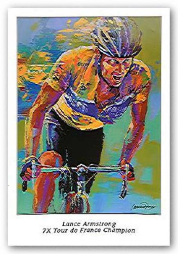 Lance Armstrong - 7X Tour de France Champion by Malcolm Farley 16.75