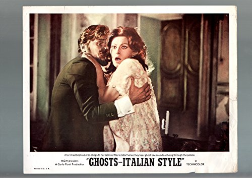 MOVIE POSTER: GHOSTS-ITALIAN STYLE-1968-LOBBY CARD-G-COMEDY-FANTASY-SOPHIA LOREN-ADORF G