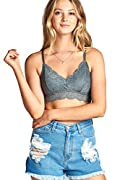 Add some edge to your wardrobe for this summer! Here is comfy and sexy full lace bralette for you This fashionable lace bralette is great for summer casual occasion. You can match your favorite tnak tops or see-through T shirt  FABRIC FEATURE: #11: 9...