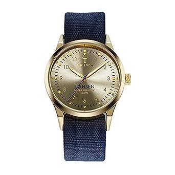 TRIWA Gold Lansen Armbanduhr blau-goldfarben LAST108_MO060713