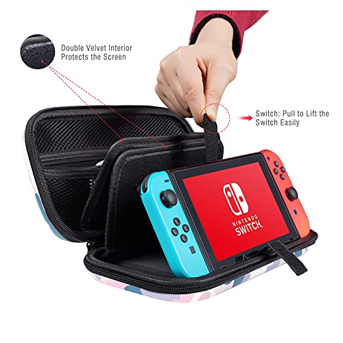 Lokigo Carry Case for Nintendo Switch, Military Nintendo Switch Case Hard Shell Protective Cover Travel Bag with 20 Game Card Slots for Nintendo Switch Console Joy-Con & Accessories (Camouflage)