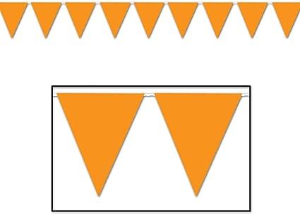 Amazon Com Fx 100 Foot Orange Pennant Banner 12 X 18 Flags 48