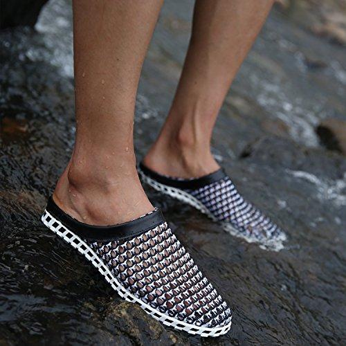 Maylen Hughes Herren Wasser Slipper Gitter Sommer Damen Sandale Strand Flip Flops Schuhe Schwarz