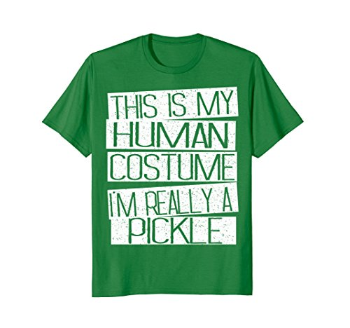 Mens Pickle Halloween Costume Kids Shirt - Funny Halloween Gift Large Kelly Green -