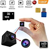 FabQuaity Waterproof Mini Camera SQ12 HD + 16GB Sport Action Camera Night Vision Camcorder 1080P DV Video Recorder Infrared Car DVR Camera Motion Detection for Bicycle Motorcycle Ski Diving Snorkeling