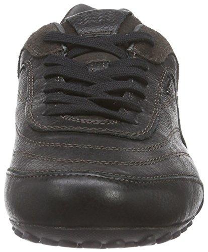 Geox UOMO SNAKE B - zapatilla deportiva de cuero hombre negro - Schwarz (C9999BLACK)