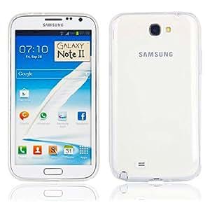 Caja protectora transparente de TPU para Samsung N7100 Transparente