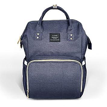 98294958ac Amazon.com   Pipi bear Diaper Bag Backpack Travel Large Spacious Tote  Shoulder Bag Organizer (Blue)   Baby