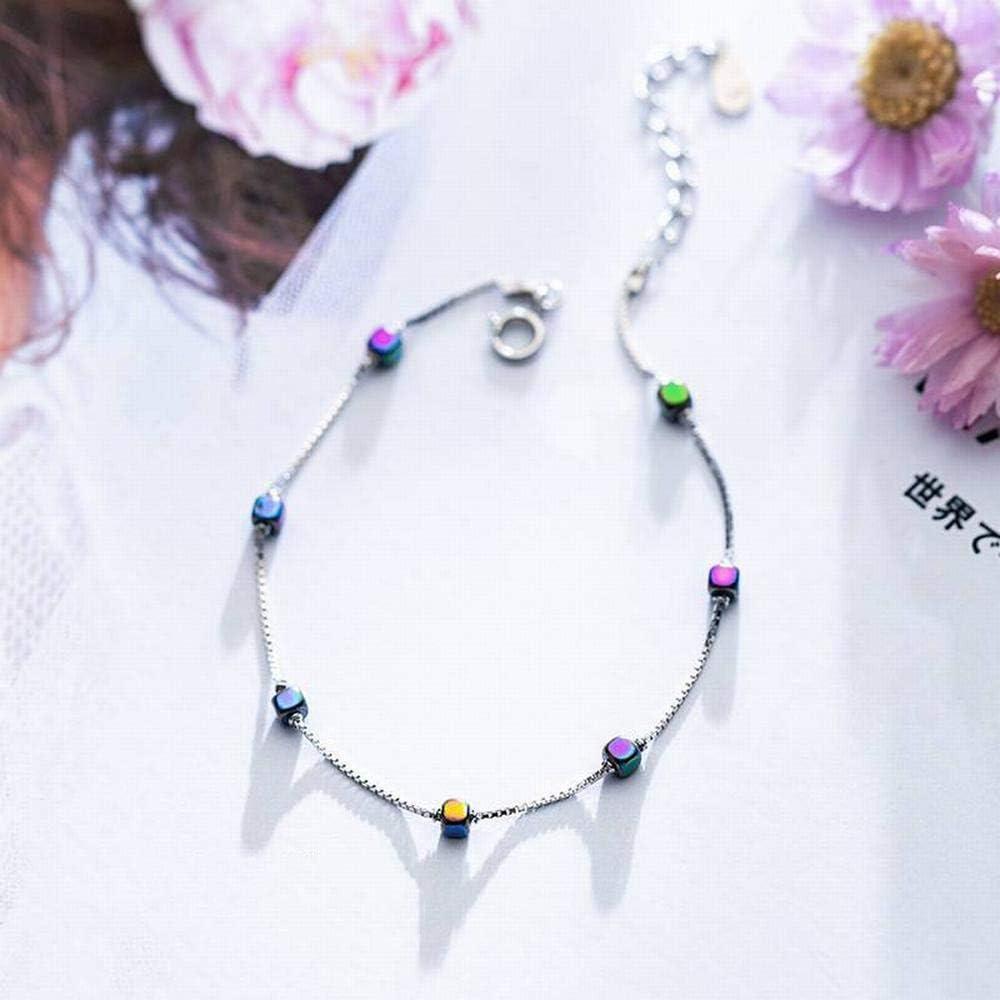 Bangles Bracelets S925 Silver Bracelet Female Fashion Gradient Square Bracelet Temperament Simple and Compact LOt