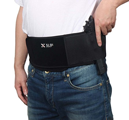 Belly Band Holster for Concealed Carry - Neoprene Waist Band Holster Fits Glock, Ruger LCP, SIG Sauer, 1911 and Similar Sized Guns for Men and Women - Left Hand Springfield Bb