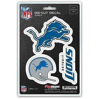 NFL Detroit Lions Team Decal, 3-...