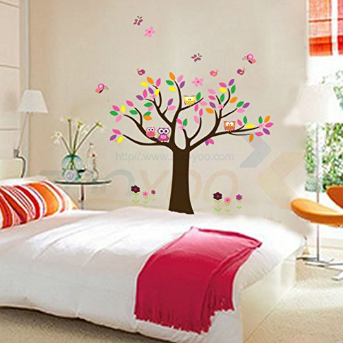 FunnyPicker Beautiful Colorfull Tree For Home Decor Wall Decal Decorative Adesivo De Parede Removable Pvc Wall Sticker