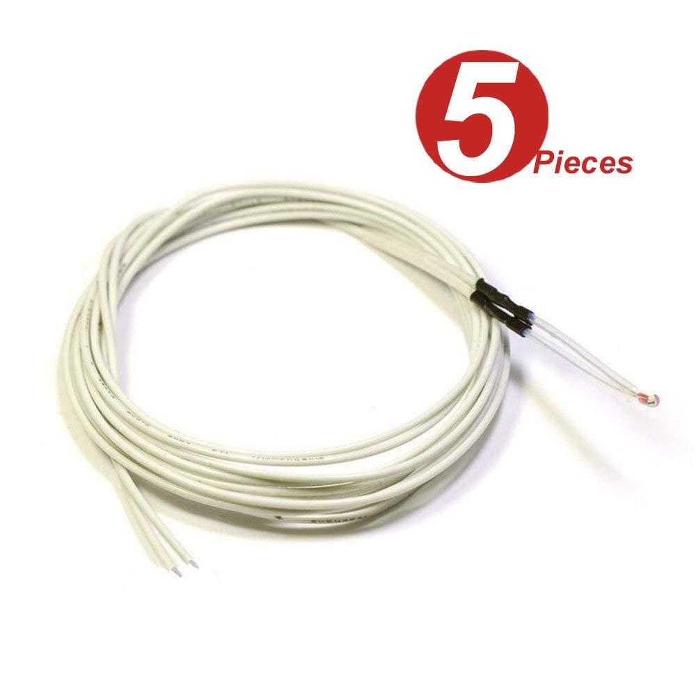 WINGONEER 5PCS 100K ohm NTC Thermistors//Temp Sensor for Reprap 3D Printer WINGONEER®