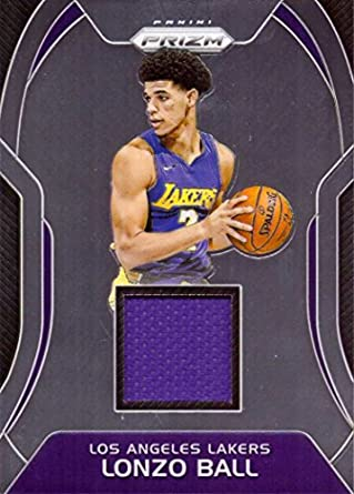 a94f7e695 Amazon.com  2017-18 Panini Prizm Sensational Swatches Relics  SW-LB Lonzo  Ball Player Worn Jersey Basketball Card from Rookie Season  Collectibles    Fine ...