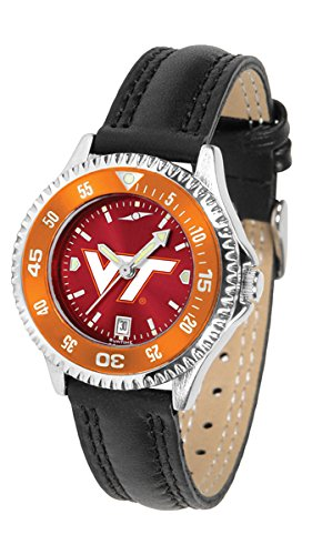 (Virginia Tech Hokies Competitor AnoChrome Women's Watch - Color Bezel)