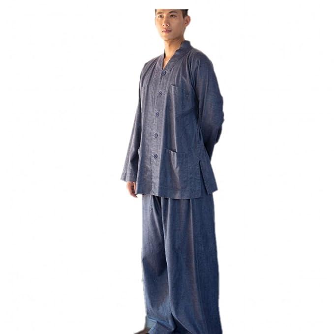 KATUO Mens Azul Conjuntos de Monje Budista Religión Traje ...