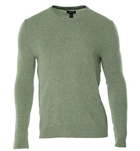 Alfani Mens Regular Fit V-Neck Pullover Sweater Gray L from Alfani