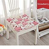 JinXi Vintage Country Lace Bread Hard PP cotton Filling Chair Pads Cushion Strawberry