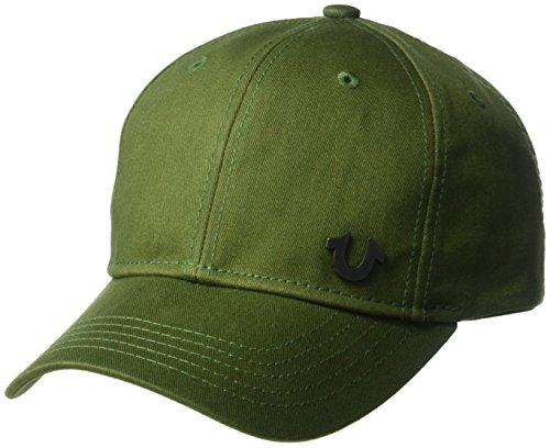 (True Religion Men's UK Core Logo Baseball Cap, Military/Black, OSFA)