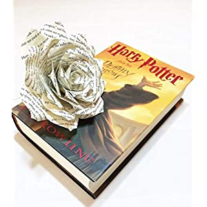 Paper Book Page Rose - Choose natural or colored tips 8