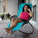 Eclipse Collection Orbital Lounger - Single (True Turquoise)