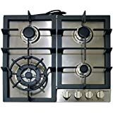 Magic Chef MCSCTG24S 24 Gas Cooktop with 4 Burners, Stainless Steel