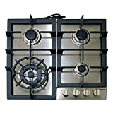 "Appliances : Magic Chef MCSCTG24S 24"" Gas Cooktop with 4 Burners, Stainless Steel"