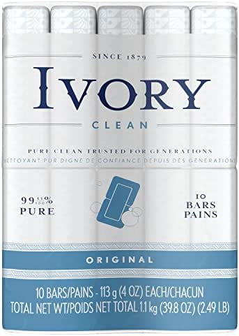 Ivory Clean Original Bath Bar, 10 count (Packaging may Vary)