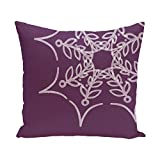 E By Design PHN352PU7-16 Web Art Holiday Print Pillow, 16'' x 16'', Purple