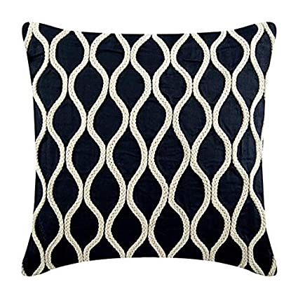 Amazon.com: The HomeCentric Decorative Navy Blue Pillow ...