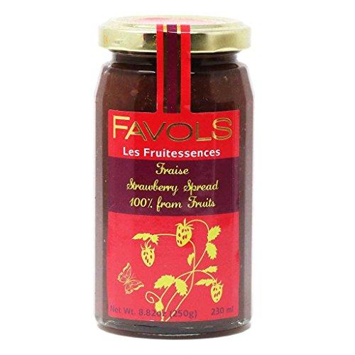 (Favols Les Fruitessences Strawberry Spread (Fraise) | 100% Fruit | No Sugar | No Pectin, 250g)