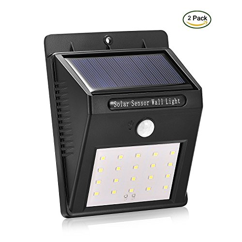 Solar Lights Outdoor, 16 LEDs Motion Sensor Wall Light Bright Wireless Waterproof Security Outdoor Light with Motion Activated ON/OFF for Garden, Outdoor, Fence, Patio, Deck, Yard, Home (2 Pack) Review