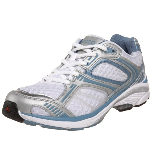 ECCO Women's XT 1010 Cross Trainer,Silver/White/Blue Shadow,37 M EU (US Women's 6-6.5 M)