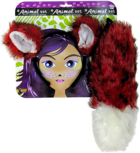 Forum Novelties Women's Fox Ears and Tail Set, Multi, One Size