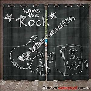 BlountDecor Guitarra de Interior y Exterior Cortina de ...