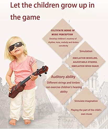 Infinite Guitar Toys ukeleles Musical Kids Instruments Brown ,Educational Toy for Toddlers