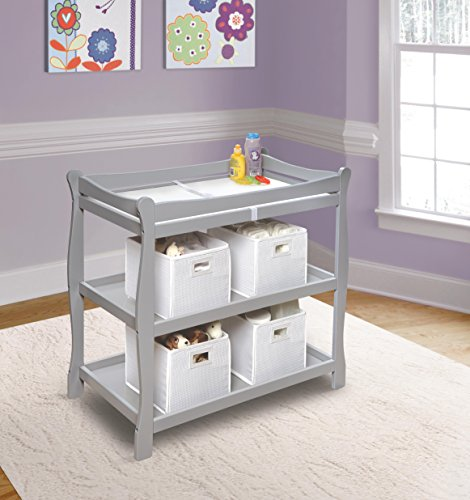 Buy badger basket changing table gray