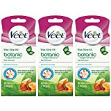 VEET Ready to Use Wax Strips Hair Remover for Body, Bikini & Face 20 ea (Pack of 3)