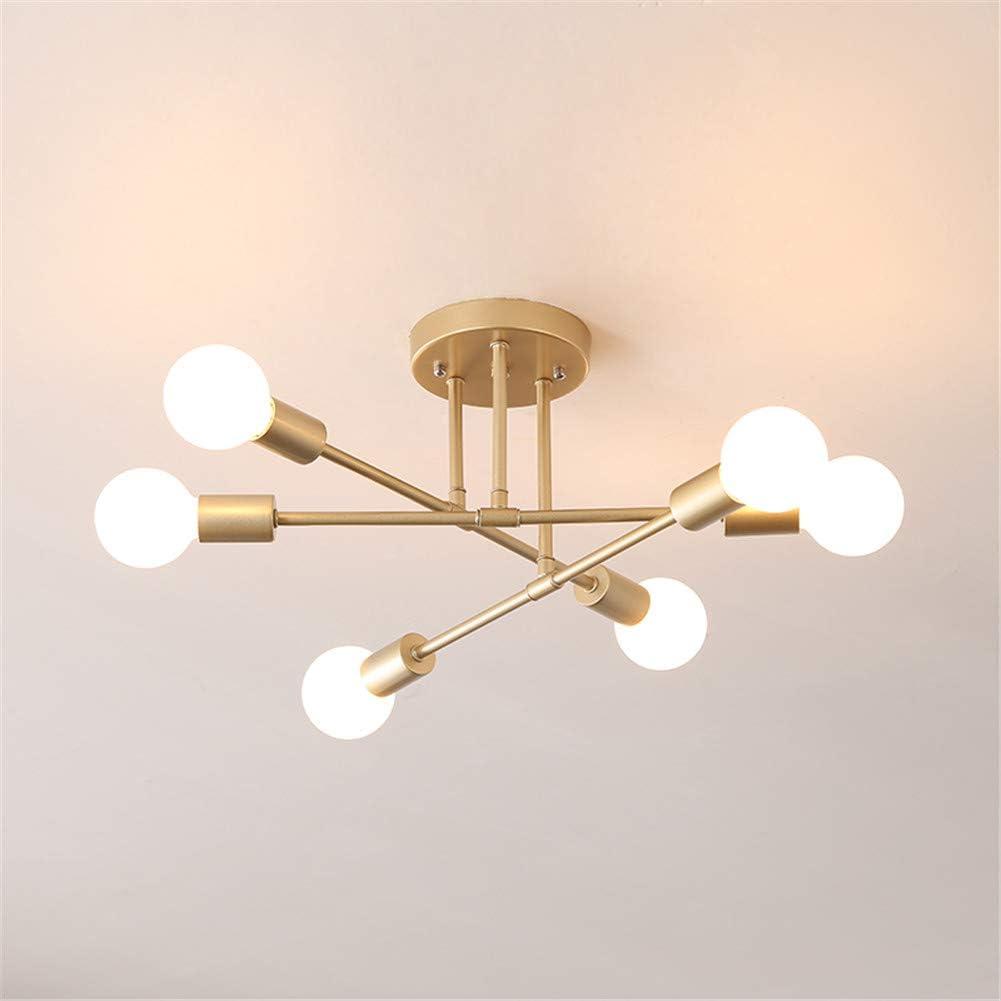 5 Head Sputnik Chandelier Semi Flush Mount Satellite Ceiling Light Mid  Century Modern Pendant Light for Bedroom Living Room Dining Room Bar  Hallway E
