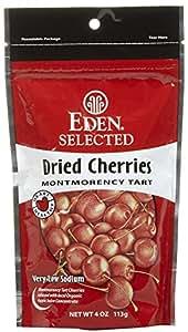 Eden Organic Dried Montmorency Cherries, 4 oz Pouches