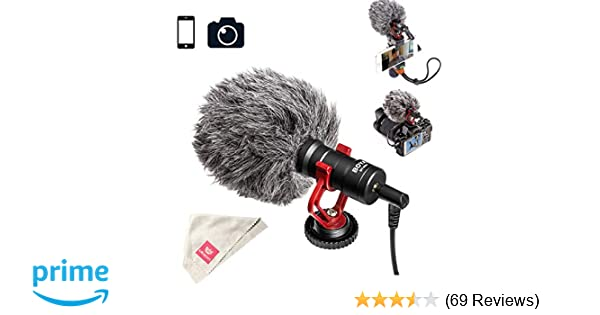 Amazoncom Boya By Mm1 Video Microphone Youtube Vlogging Facebook