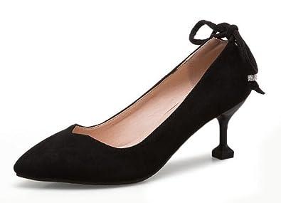 Easemax Damen Elegant Spitze Zehe Low Cut Slip On Business Pumps High Heels