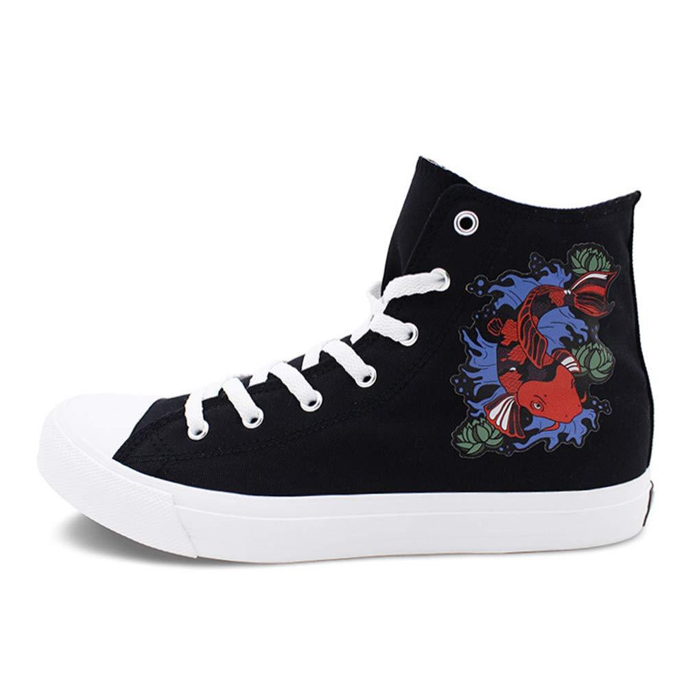 YAN Damen-Segeltuchschuhe für Herren Frühjahrs- & Herbst-Deckschuhe Academy Fitness & Cross Training Schuhe (Farbe   Schwarz, Größe   39)