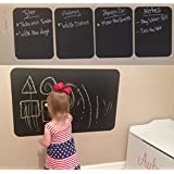 """Chalkboard Wall Decal with Chalk Marker - Premium 22 cm x 91.5 cm (22"""" x 36"""") Vinyl Heavy Duty 7.9 mil Chalkboard Wall Stickers - Peel and Stick Message Board Decal - Many Sizes to Choose from - Made in the USA!"""