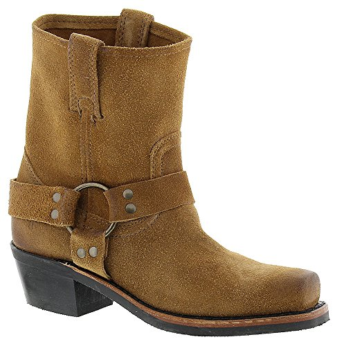Suede Oiled Boots - FRYE Women's Harness 8R Tan Oiled Suede Boot 8.5 B (M)