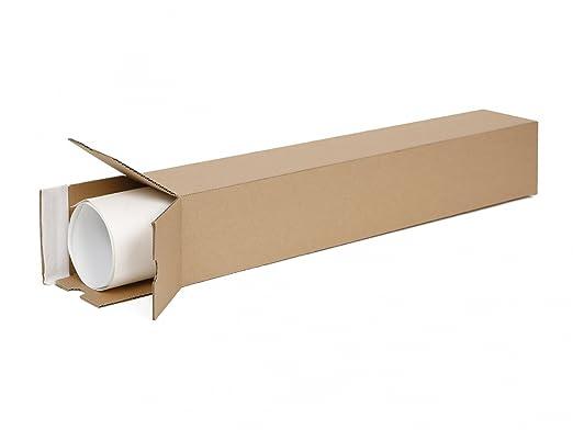 20 Versandhülsen eckig DIN A2   Papprolle 435x105x105mm Versand ohne Sperrgutzuschlag   wählbar zwischen 10 – 1600 Versandrol